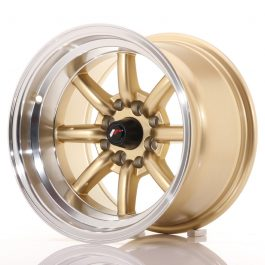 JR Wheels JR19 14×9 ET-25 4×100/114 Gold w/Machined Lip