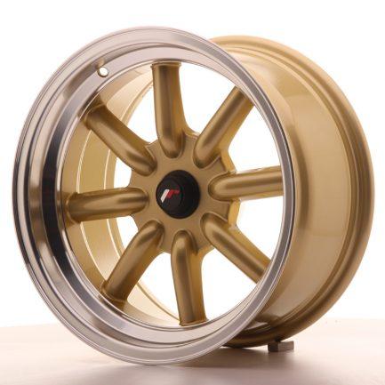 JAPAN RACING JR Wheels JR19 16x8 ET-20-0 BLANK Gold w/Machined Lip 8.00x16