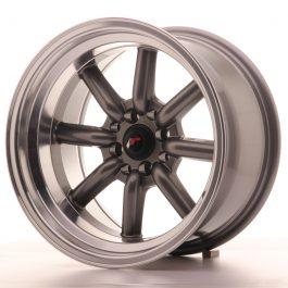 JR Wheels JR19 16×9 ET-15 4×100/114 Gun Metal w/Machined Lip