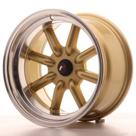 JR Wheels JR19 16×9 ET-25-(-15) BLANK Gold w/Machined Lip