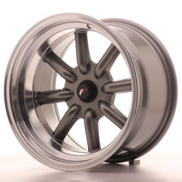 JR Wheels JR19 16×9 ET-25-(-15) BLANK Gun Metal w/Machined Lip