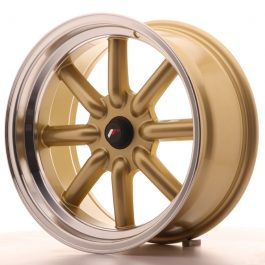 JR Wheels JR19 17×8 ET-20-0 BLANK Gold w/Machined Lip