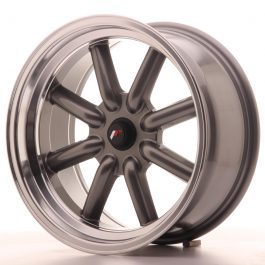 JR Wheels JR19 17×8 ET-20-0 BLANK Gun Metal w/Machined Lip