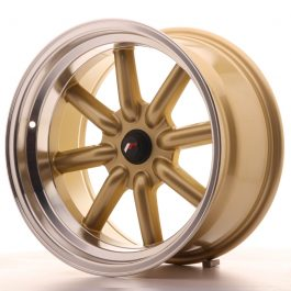 JR Wheels JR19 17×9 ET-25-(-10) BLANK Gold w/Machined Lip