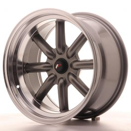 JR Wheels JR19 17×9 ET-25-(-10) BLANK Gun Metal w/Machined Lip