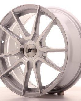 JR Wheels JR21 17×7 ET25-40 BLANK Silver Machined Face