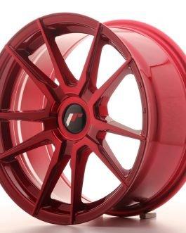 JR Wheels JR21 17×8 ET35 BLANK Platinum Red