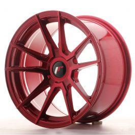 JR Wheels JR21 17×9 ET25-35 BLANK Platinum Red