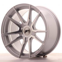 JR Wheels JR21 17×9 ET25-35 BLANK Silver Machined Face
