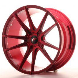 JR Wheels JR21 20×10 ET20-40 5H BLANK Platinum Red