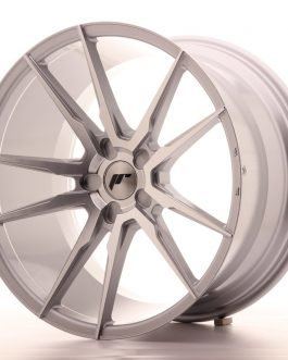 JR Wheels JR21 20×11 ET30-50 5H BLANK Silver Machined Face