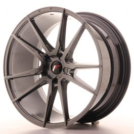 JR Wheels JR21 21×10 ET15-48 5H BLANK Hyper Black