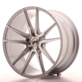 JR Wheels JR21 21×11 ET15-55 5H BLANK Silver Machined Face