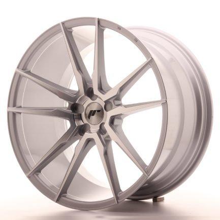 JAPAN RACING JR Wheels JR21 21x11 ET15-55 5H BLANK Silver Machined Face 11.00x21
