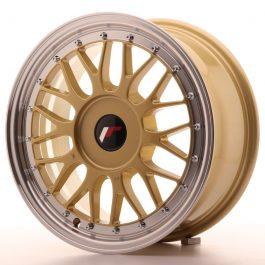JR Wheels JR23 16×7 ET20-45 BLANK Gold w/Machined Lip
