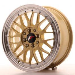 JR Wheels JR23 16×7 ET20 4×100/108 Gold w/Machined Lip
