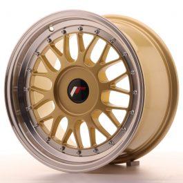 JR Wheels JR23 16×8 ET20-45 BLANK Gold w/Machined Lip