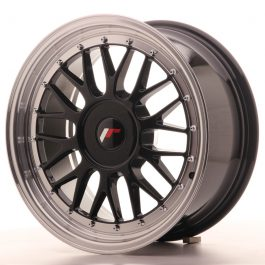 JR Wheels JR23 17×8 ET20-45 BLANK Gloss Black w/Machined Lip