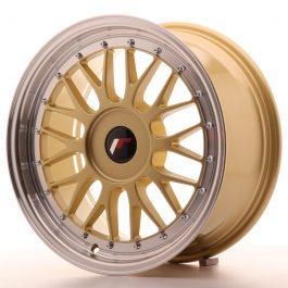 JR Wheels JR23 17×8 ET20-45 BLANK Gold w/Machined Lip
