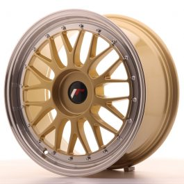 JR Wheels JR23 18×8 ET30-45 BLANK Gold w/Machined Lip