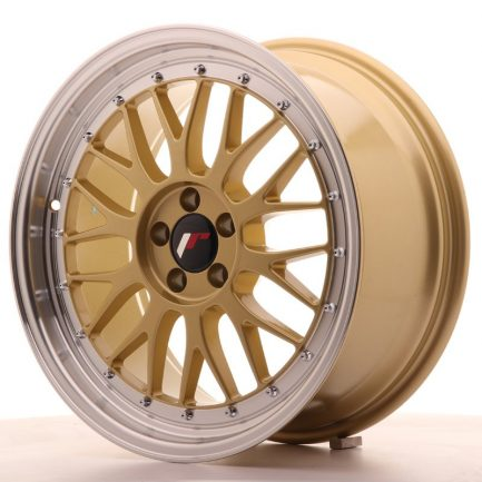 JAPAN RACING JR Wheels JR23 18x8,5 ET45 5x112 Gold w/Machined Lip 8.50x18
