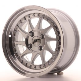 JR Wheels JR26 15×8 ET5 4×100 Silver Machined Face