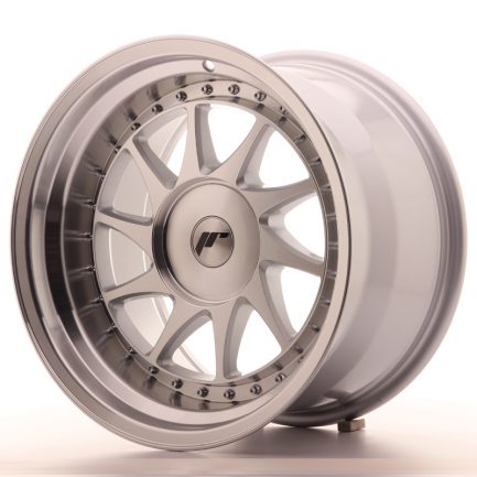 JAPAN RACING JR Wheels JR26 17x10 ET0-25 BLANK Silver Machined Face 10.00x17