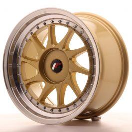 JR Wheels JR26 17×9 ET20-35 BLANK Gold w/Machined Lip