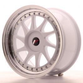 JR Wheels JR26 17×9 ET20-35 BLANK White w/Machined Lip