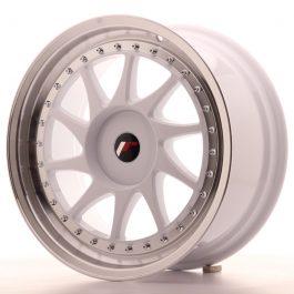 JR Wheels JR26 18×8,5 ET20-40 BLANK White w/Machined Lip