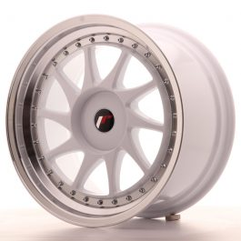 JR Wheels JR26 18×9,5 ET20-40 BLANK White w/Machined Lip