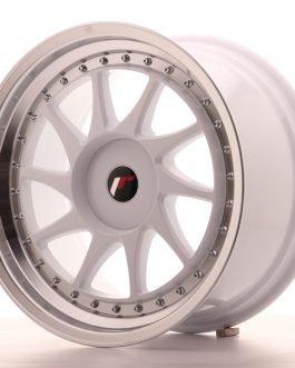 JR Wheels JR26 18×9,5 ET36 5×120 White w/Machined Lip 4kpl