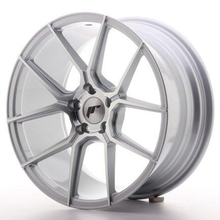 JAPAN RACING JR Wheels JR30 18x8,5 ET35 5x120 Silver Machined Face 8.50x18