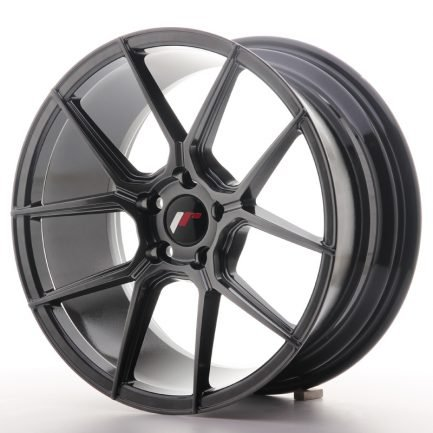 JAPAN RACING JR Wheels JR30 18x8,5 ET40 5x112 Hyper Black 8.50x18