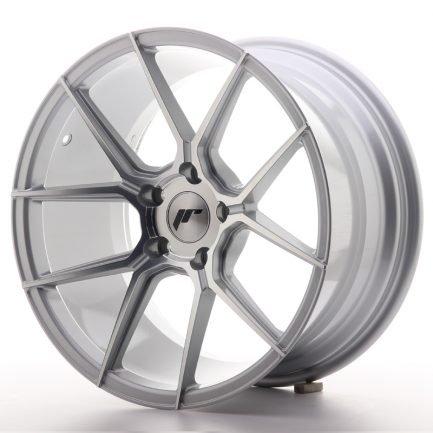 JAPAN RACING JR Wheels JR30 18x9,5 ET35 5x120 Silver Machined Face 9.50x18