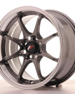JR Wheels JR5 15×8 ET28 4×100 Gun Metal w/Machined Lip