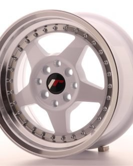 JR Wheels JR6 15×7 ET25 4×100/108 White w/Machined Lip