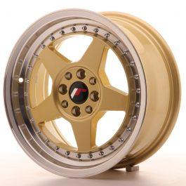 JR Wheels JR6 16×7 ET25 4×100/108 Gold w/Machined Lip