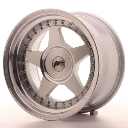 JAPAN RACING JR Wheels JR6 16x9 ET0-20 BLANK Silver Machined Face 9.00x16