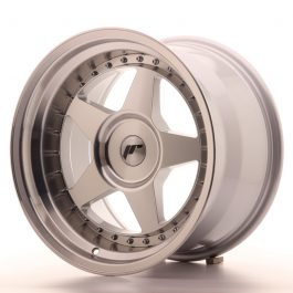 JR Wheels JR6 17×10 ET0-20 BLANK Silver Machined Face