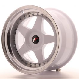JR Wheels JR6 17×10 ET20 BLANK White w/Machined Lip