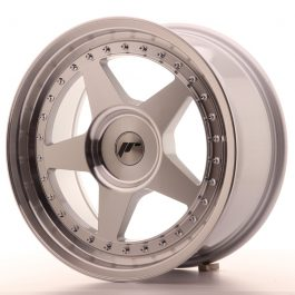 JR Wheels JR6 17×8 ET20-35 BLANK Silver Machined Face