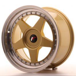 JR Wheels JR6 17×9 ET20-35 BLANK Gold w/Machined Lip