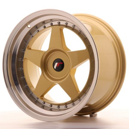 JAPAN RACING JR Wheels JR6 18x10,5 ET0-25 BLANK Gold w/Machined Lip 10.50x18