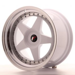 JR Wheels JR6 18×10,5 ET0-25 BLANK White w/Machined Lip