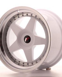 JR Wheels JR6 18×10,5 ET0-25 BLANK White w/Machined Lip