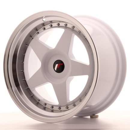 JAPAN RACING JR Wheels JR6 18x10,5 ET0-25 BLANK White w/Machined Lip 10.50x18