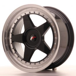 JR Wheels JR6 18×8,5 ET20-40 BLANK Gloss Black w/Machined