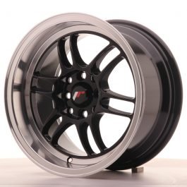 JR Wheels JR7 15×8 ET35 4×100/114 Gloss Black w/Machined Lip
