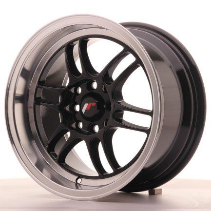 JAPAN RACING JR Wheels JR7 15x8 ET35 4x100/114 Gloss Black w/Machined Lip 8.00x15